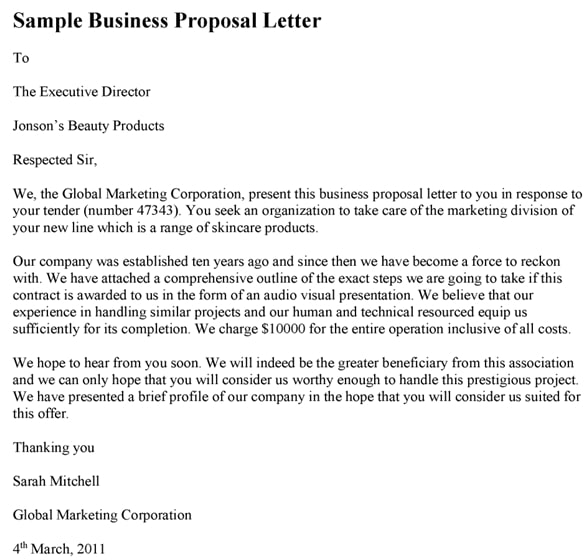 how to write a business proposal in nigeria